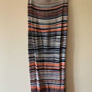 Bcbg long multicolor skirt
